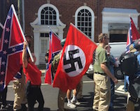 Charlottesville hate flags
