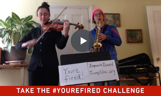 You're Fired challenge